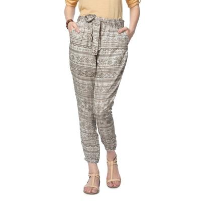 People Grey Rayon Pant