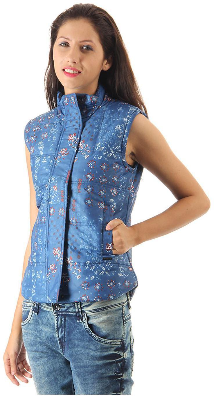 Pepe Jeans Women Printed Bomber Jacket - Blue-mrh | eBay