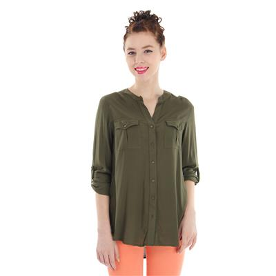 Pepe Jeans Women's Solid Green Shirt