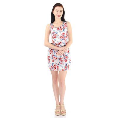 Pepe Jeans Women's Floral Print White Dress