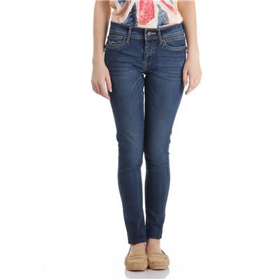 Pepe Jeans Women's Solid Dark Blue Jeans