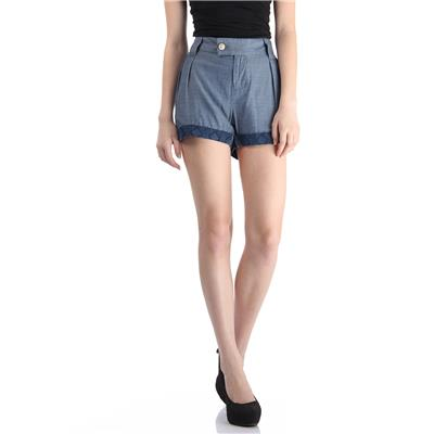 Pepe Jeans Women's Solid Blue Shorts