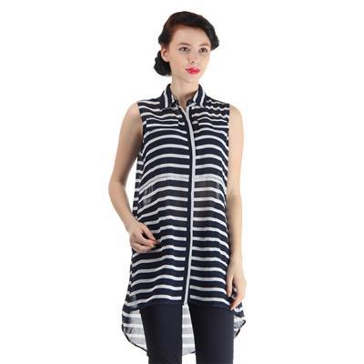 Pepe Jeans Women's Striped Blue Shirt