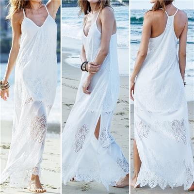 Plus S-5XL Zanzea Women Beach Sundress Split Cocktail Evening Long Maxi Dress