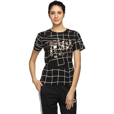 Puma Black Women Regular T-Shirt