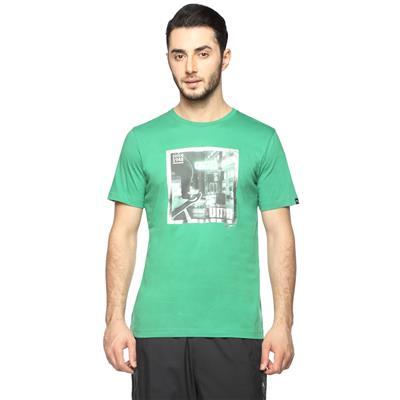 Puma Green Men Slim T-Shirt