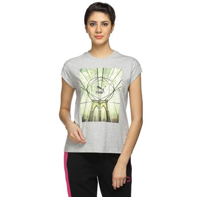 Puma Grey Women Comfort T-Shirt