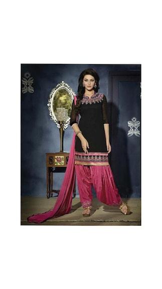 Get best deal for Rahi Fashion black and red patiyala at Compare Hatke