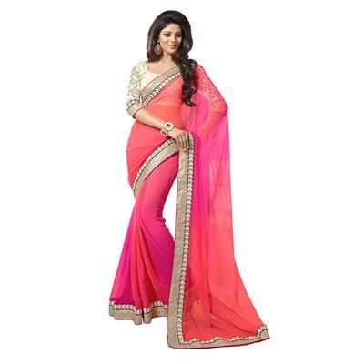 raul zone designer pink embroidary saree