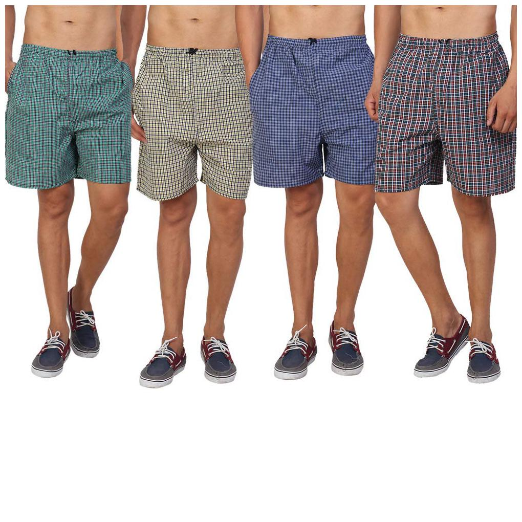 Rebizo Men's Boxers (Pack of 4) Assorted Mixed Variety