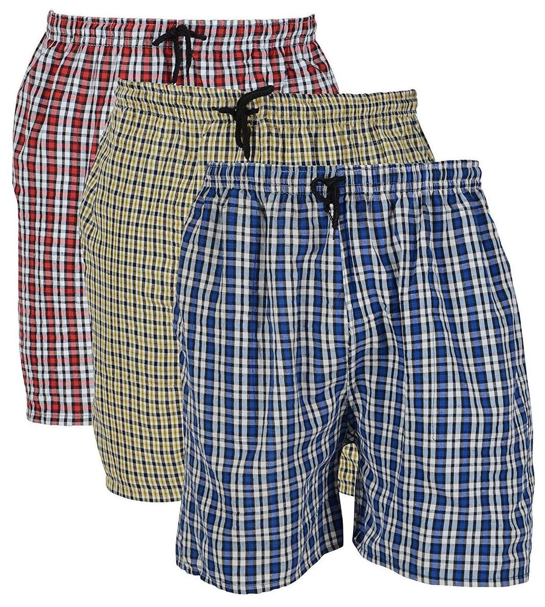 Rebizo mens checkered design shorts (pack of 3)