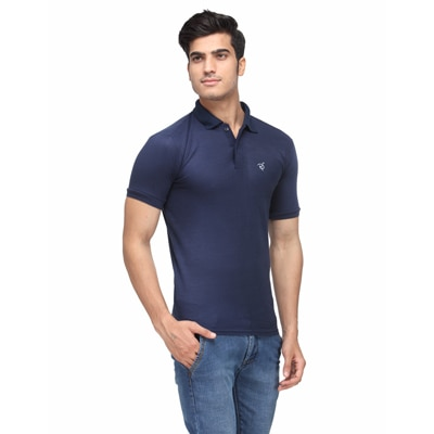 Rico Sordi Blue Polyester T-Shirt