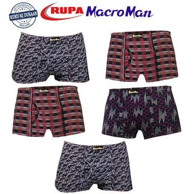 Rupa Macroman Multicolor Premium Printed Mini Trunks- Set of 5