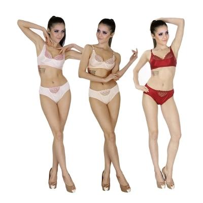 Sk Dreams Multi Color Set Of 3 Women's Bra &...