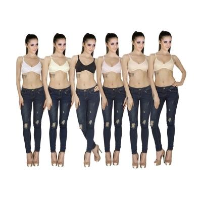 Sk Dreams Multi Color Set Of 6 Women's Bra Combo