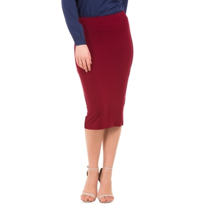 Shuffle Women Oxblood Skirt