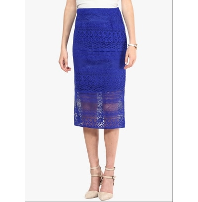 Mayra Blue Skirts For Women