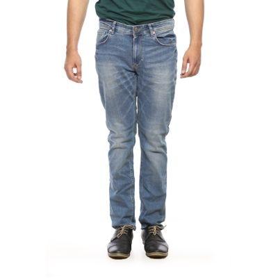 Spykar Mens Light Blue Narrow Fit Low Rise Jeans