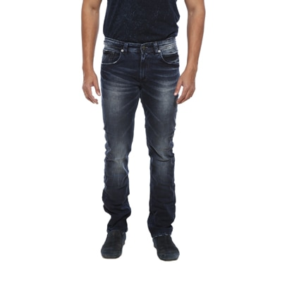 Spykar Mens Mid Blue Narrow Fit Low Rise Jeans (Rover)
