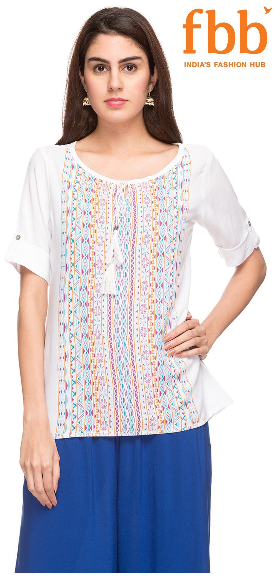 Srishti Women White Fashion Ethnic Top
