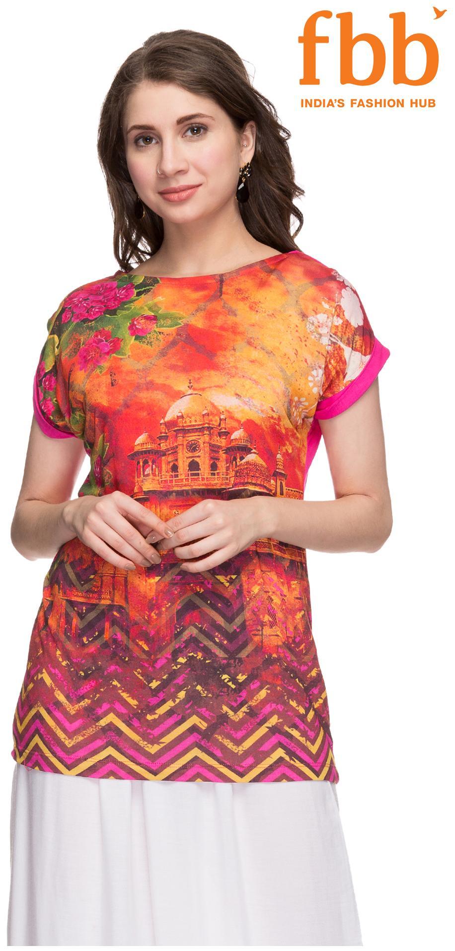 Srishti Women Fuchsia Fashion Ethnic Top