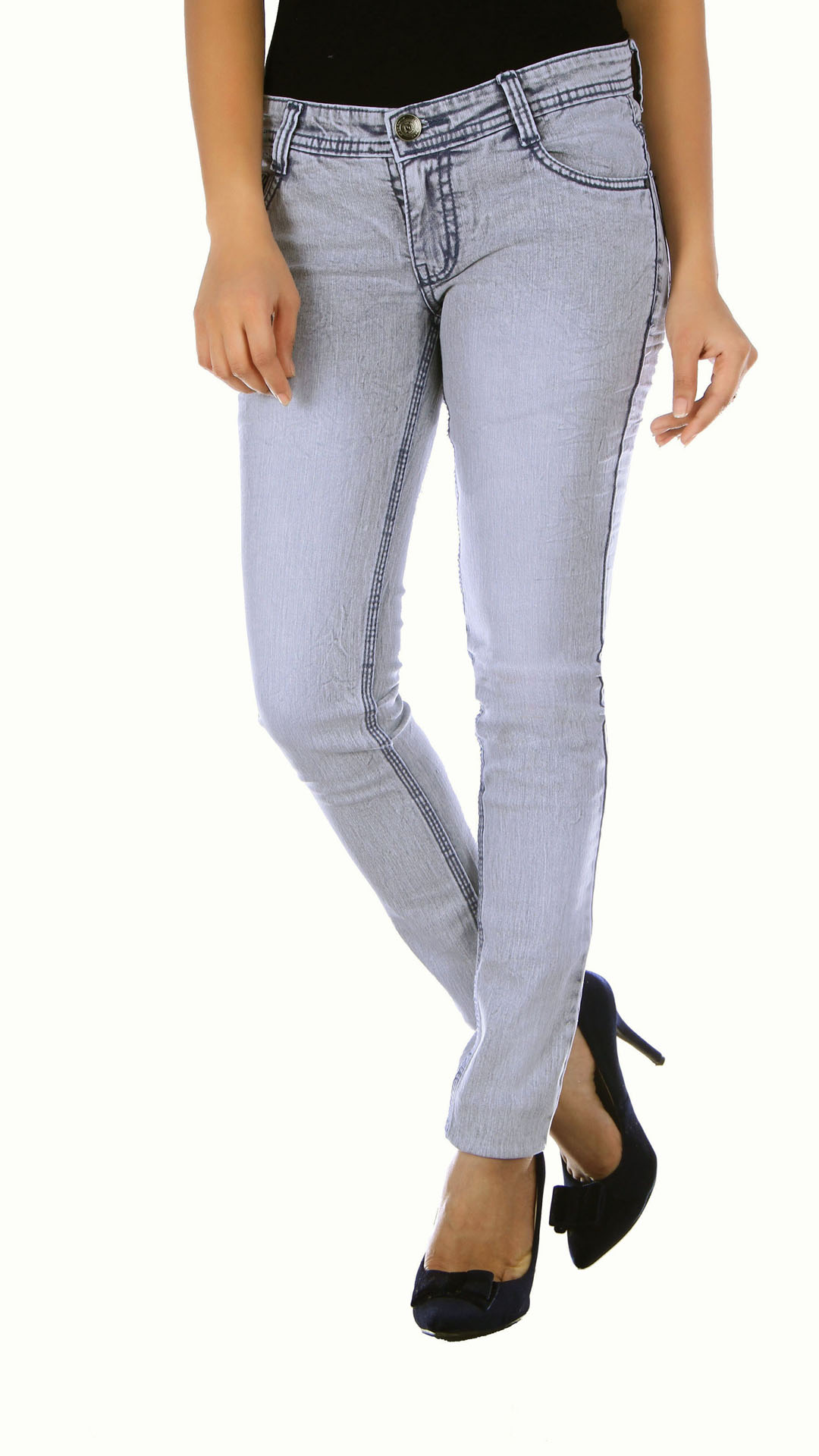 Studio-Nexx-Womens-Grey-Slim-Fit-Jeans