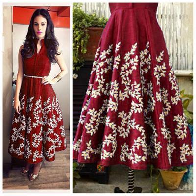 Style Amaze Presents Designer beatiful Maroon Stylist Gown