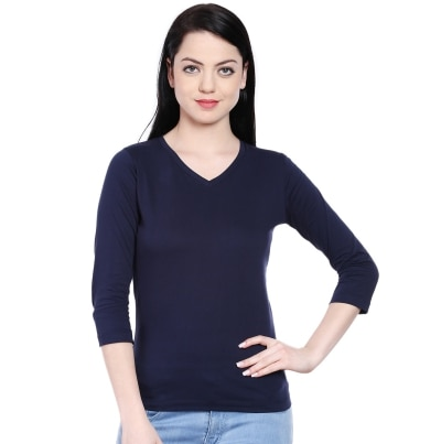 Style Quotient Berry Navy Blue Tshirt
