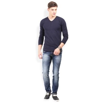 Thisrupt Dark Blue Color Cotton Slim Fit Jeans