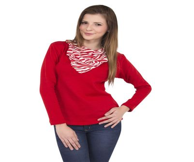 Threads & Pals Full Sleeve Red Sweater