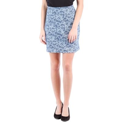 Tokyo Talkies Blue Cotton Skirt