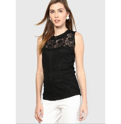 Mayra Black Top for Women