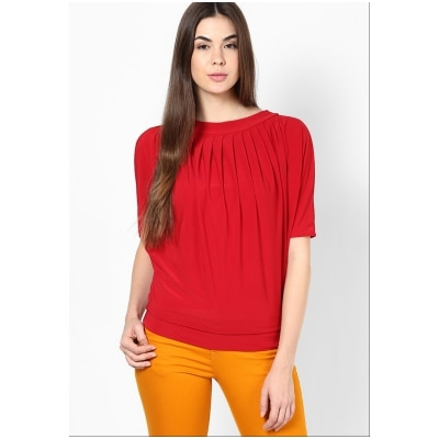 Mayra Red Tops For Women