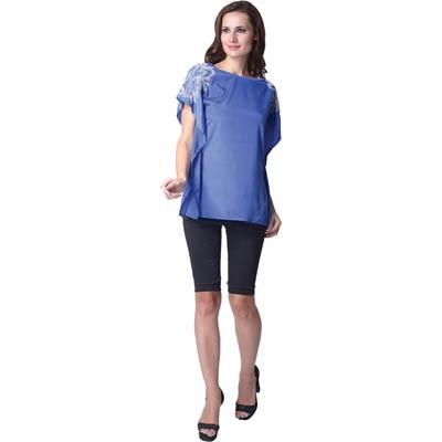 Trendy Divva Blue Polyester Top
