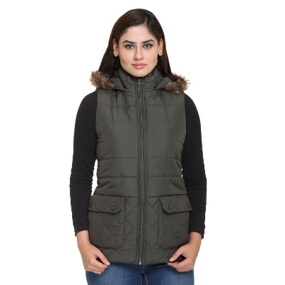 Trufit Polyester Blend Hooded Jackets