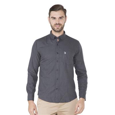 U.S. Polo Assn. Grey Casuals Regular Fit Shirt