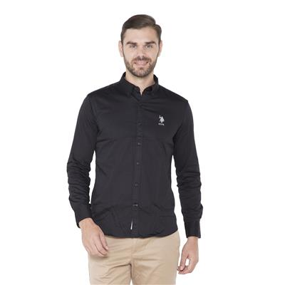 U.S. Polo Assn. Black Casuals Regular Fit Shirt
