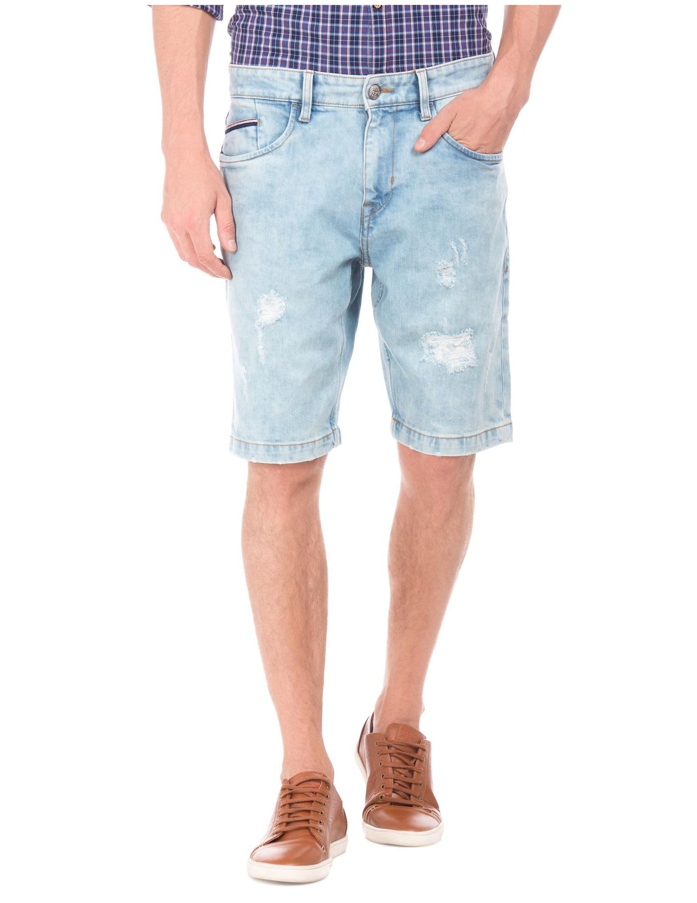 U.S. Polo Assn. Men Cotton Blend Shorts - Blue