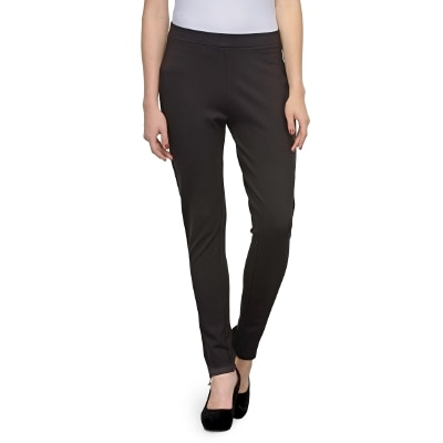 United Colors Of Benetton Black Polyster Trousers & Pants For Ladies