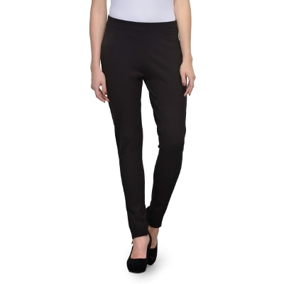 United Colors Of Benetton Dark Grey Polyster Trousers & Pants For Ladies