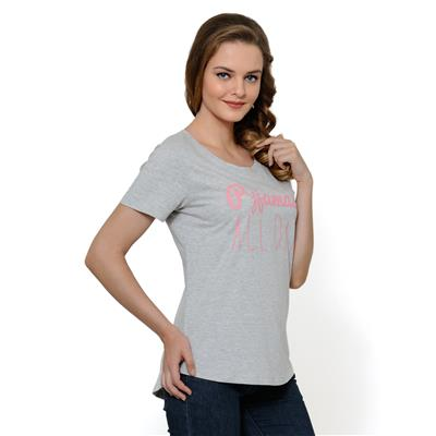 United Colors of Benetton Cotton Grey TShirt for Womens