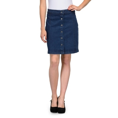 United Colors Of Benetton Blue Cotton Skirts For Ladies