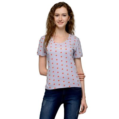 United Colors of Benetton Grey COTTON Tshirt for Women