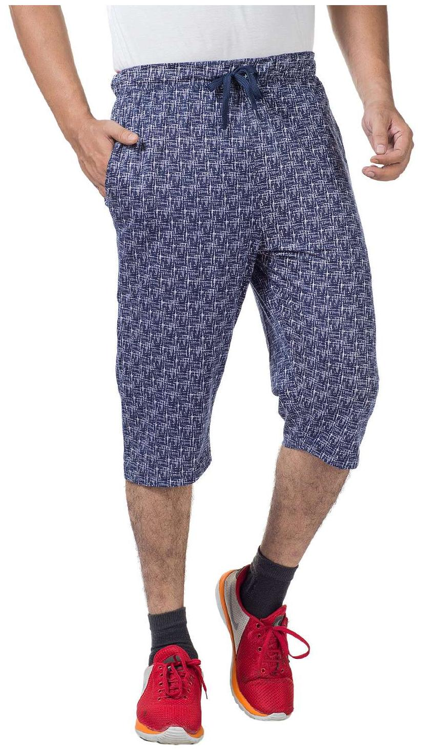 V D Sales, Printed 3/4 Track Pant/Bermudas With 2 Side Zipped Pockets For Casual Wear