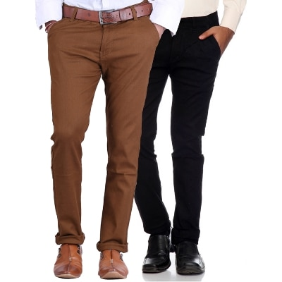 Van Galis Fashion Wear Multicoloured Combo Of Formal Trousers For Men Pack Of - 2