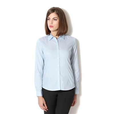 Van Heusen Blue Cotton Regular Fit Formal Shirt