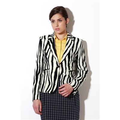 Van Heusen Black Polyester Lycra Regular Fit Single Breasted - 1 Button Business Casual Blazer