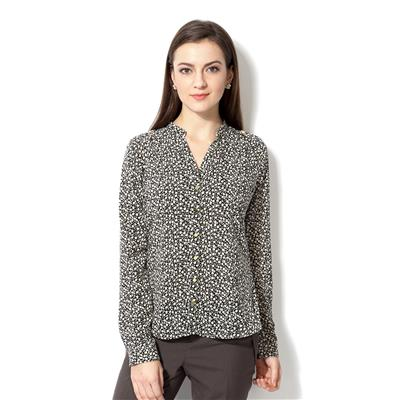 Van Heusen Black Polyester Regular Fit Business Casual Shirt