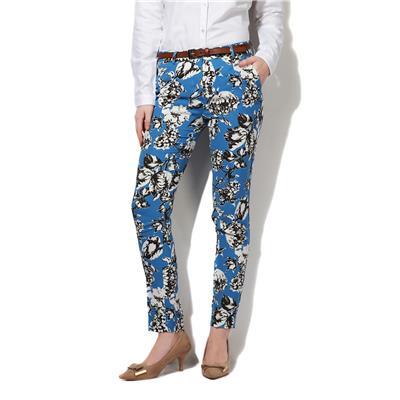 Van Heusen Blue Polyester Regular Fit Casual Trouser