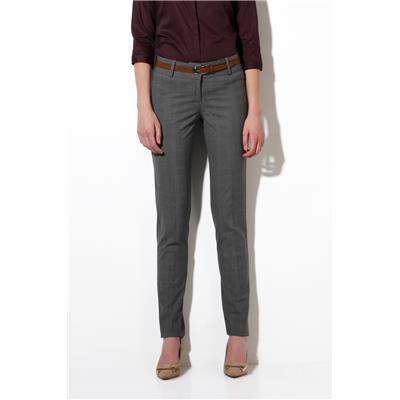 Van Heusen Grey PolyViscose Lycra Regular Fit Formal Trouser